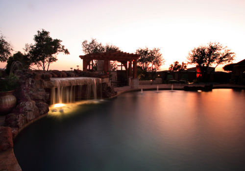 Custom-Landscape-Outdoor-Lighting-Pool-Pergola-Waterfall-Grottos-Abilene-Texas