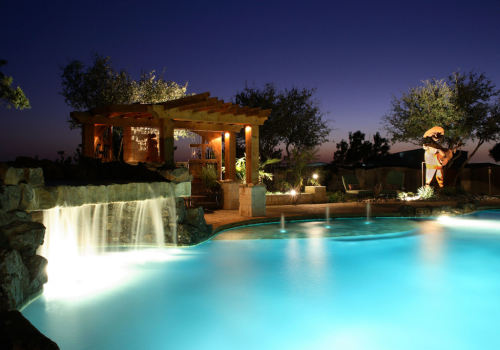 Custom-Landscape-Outdoor-Lighting-Pool-Pergola-Waterfall-