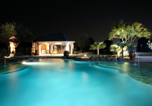 Custom-Landscape-Outdoor-Lighting-Pool-Pool-House-Texas