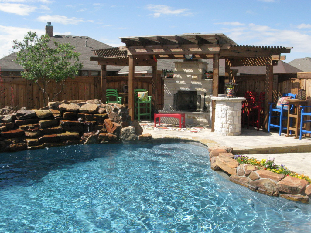 pool and outdoor bar